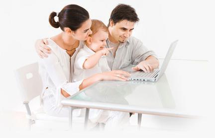 Familie beim Strom sparen